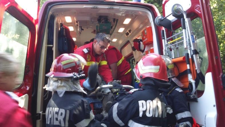 Bărbat căzut în râpă la Budeasa