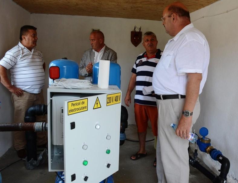Staţie de alimentare cu apă pusă în funcţiune la Băbana