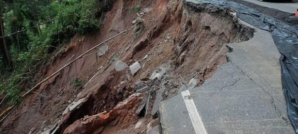 Alunecare de teren la Câmpulung