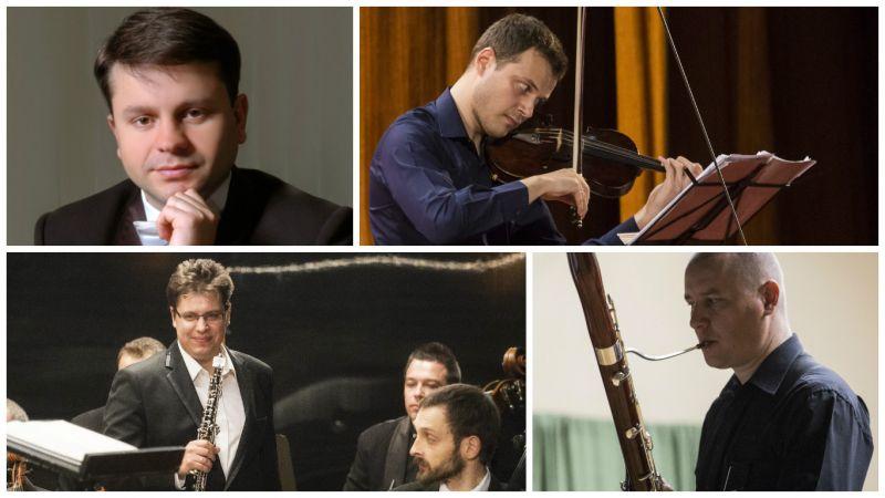 Concert pentru vioară, oboi, violoncel şi fagot la Filarmonica Piteşti