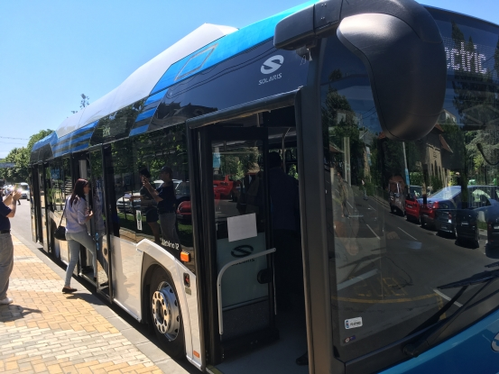 Autobuz electric, în probe în Piteşti