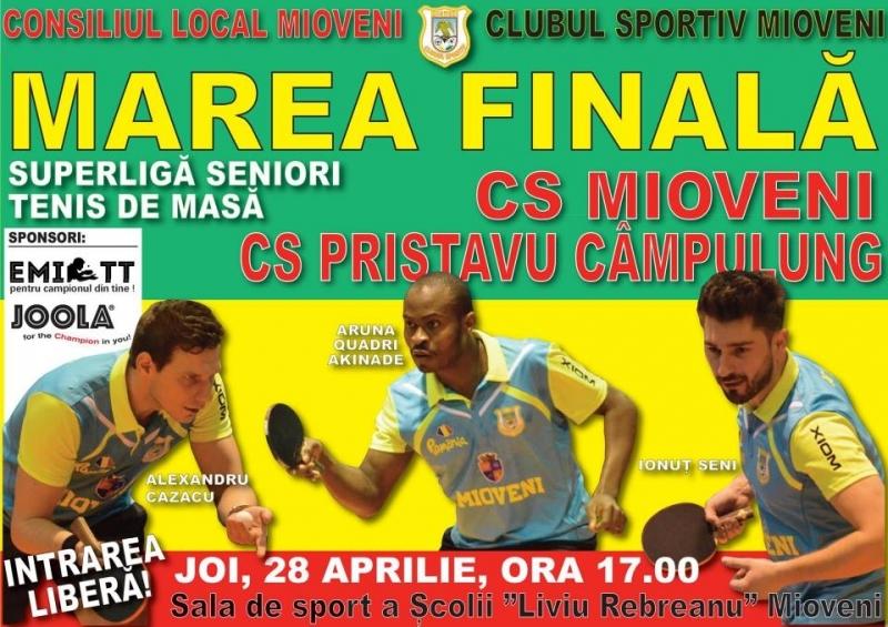 Finala superligii masculine de tenis de masă se joacă la Mioveni