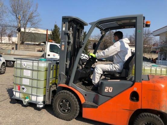 16.000 de litri de biocid, donație pentru Pitești