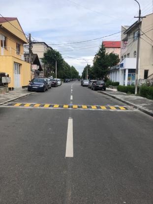 Limitatoare de viteză pe strada Banat