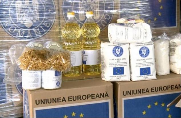 Începe distribuția ajutoarelor alimentare de la UE în Mioveni