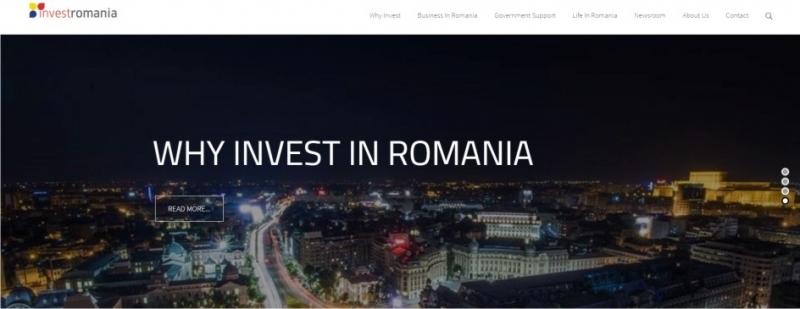 InvestRomania a lansat astăzi website-ul dedicat investitorilor străini