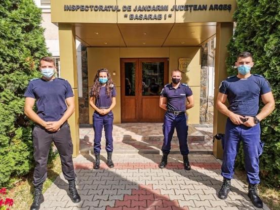 21 de studenți în practică la Jandarmeria Argeş