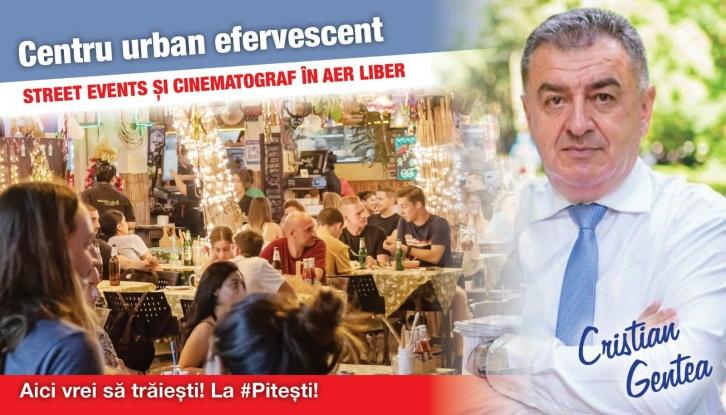 Cristian Gentea: Facem din Pitești locul în care în weekend rămânem ACASĂ, nu în CASĂ!