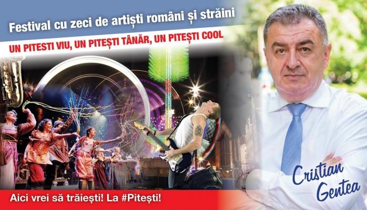 CRISTIAN GENTEA: ORGANIZĂM LA PITEȘTI FESTIVALUL CARE VA PUNE ORAȘUL PE HARTA MARILOR EVENIMENTE DIN ROMÂNIA