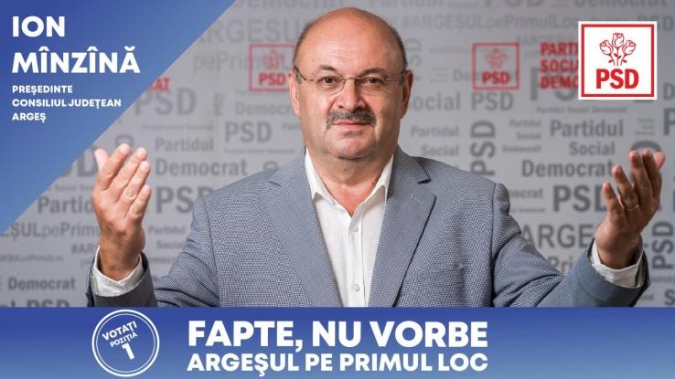 Ion Mînzînă, candidatul PSD la președinția Consiliului Județean : Am ambiția ca Argeșul să devină prima atracție turistică din România