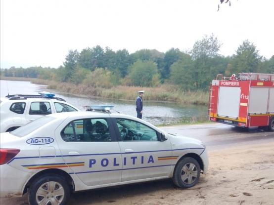 Un argeșean a plonjat cu mașina în lacul Budeasa!