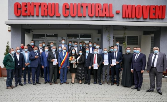 Primarul Ion Georgescu și consilierii locali din Mioveni au depus jurământul