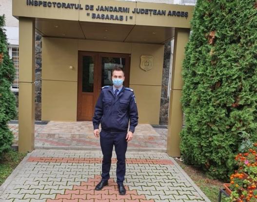 Jandarm salvator pentru un coleg în suferință