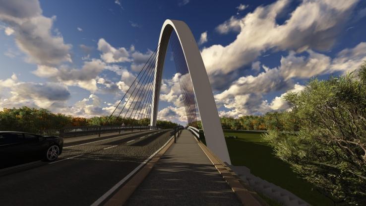 Un nou pod la Mioveni