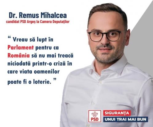 Remus Mihalcea: Vreau să lupt în Parlament pentru ca România să nu mai treacă niciodată printr-o criză în care viața oamenilor poate fi o loterie