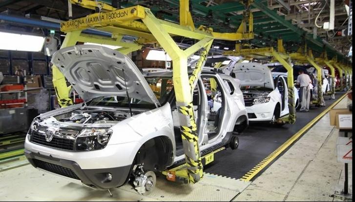 Declin al producției auto în România