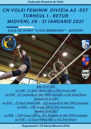 La Mioveni va fi organizat Turneul stagional I – Retur al Diviziei A2 Feminin Est