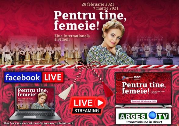 Mioveni: Spectacol LIVE la TV și pe Internet cu ocazia zilei de 1 Martie!