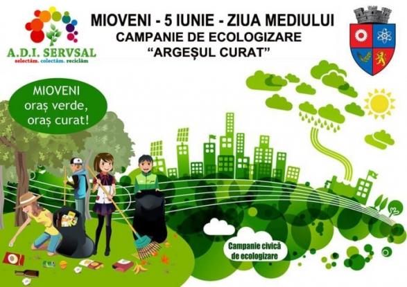 Acțiune de ecologizare la Mioveni, de Ziua Mediului