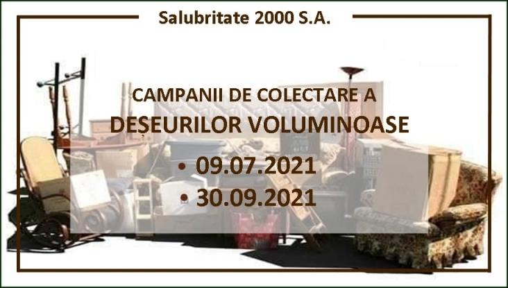 Reamintire: Salubritate 2000 SA colectează deșeurile voluminoase!