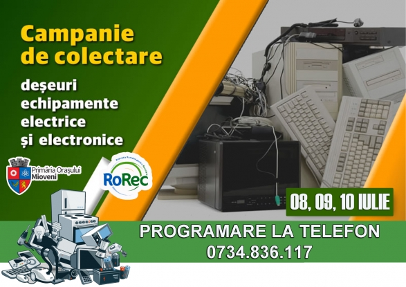 Campanie de colectare a deșeurilor electrocasnice la Mioveni