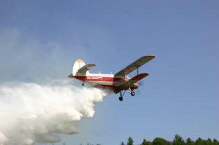 Acțiune de dezinsecție aeriană prin pulverizare aeriană (aviotratament) în Pitești!