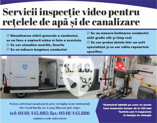 Servicii de inspecție video a rețelelor de utilități la Mioveni