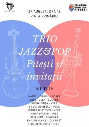 Trio&Jazz Pitești și invitații, în Piața Primăriei