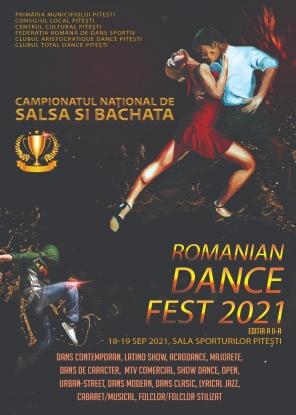 """Campionatul Național de Salsa și Bachata, în cadrul """"Romanian Dance Fest"""", ediția a II-a, la Pitești!"""