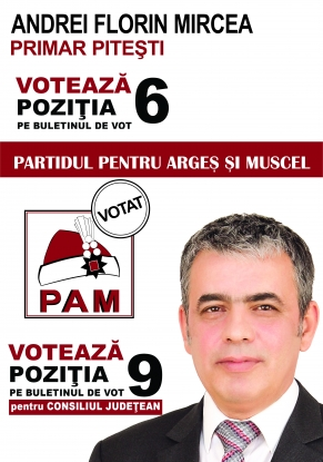 """Mircea Andrei candidatul, PAM la Primăria Piteşti: """"Locuri de muncă pentru cetăţenii din Piteşti"""""""