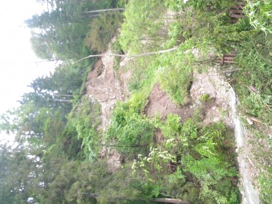Alunecare de teren la Dâmbovicioara