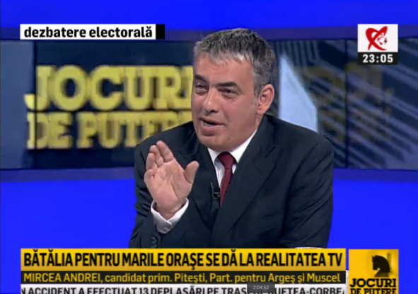 Schimb de replici savuros intre Rares Bogdan si Mircea Andrei la Realitatea TV