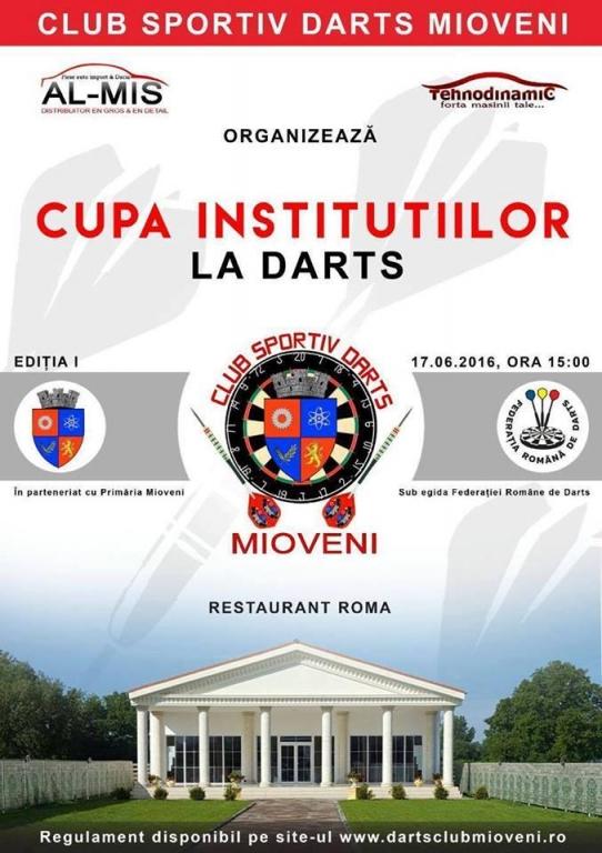 La Mioveni, începe Cupa Instituţiilor Publice la Darts