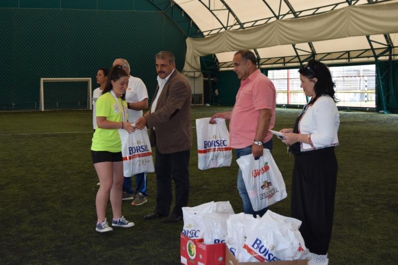 Vicecampioana națională la oină a fost felicitată de conducerea clubului