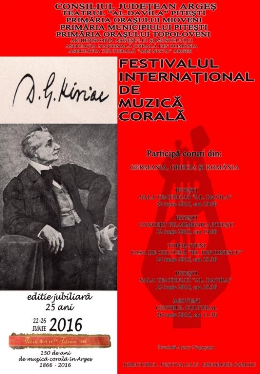 """Festivalul Internaţional de Muzică Corală ,,D.G. Kiriac"""" – ediţie jubiliară"""