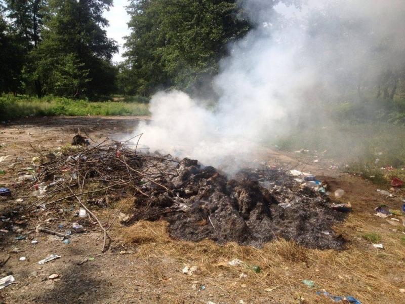 La Bălileşti s-a dat ordin de incendiere a deşeurilor