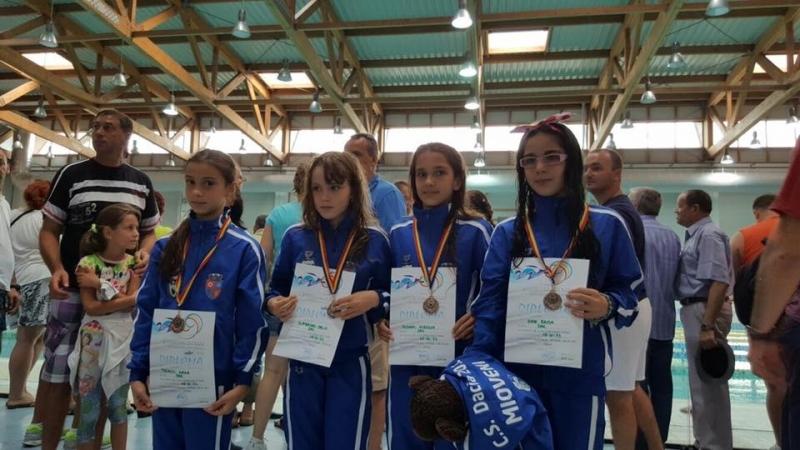 Medalie de bronz pentru înotătorii din Mioveni