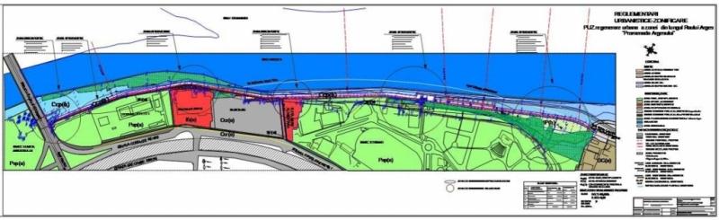 Cum va arăta zona de promenadă de pe râul Argeş