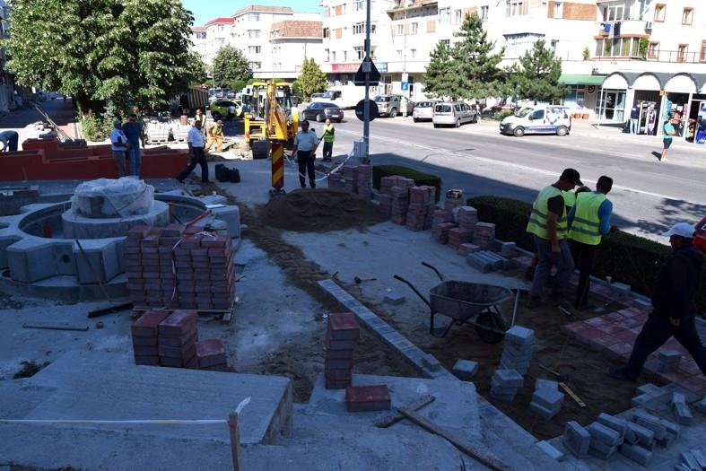 Lucrări de reabilitare și modernizare a spațiilor publice la Mioveni