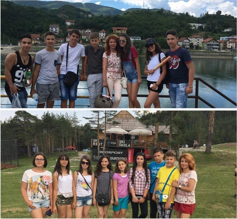 Elevii piteşteni s-au întors din Serbia
