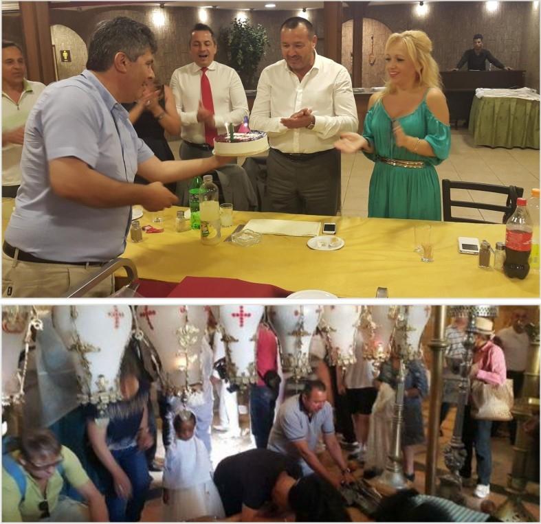 Deputatul Rădulescu şi-a sărbătorit ziua de naştere la Betleem