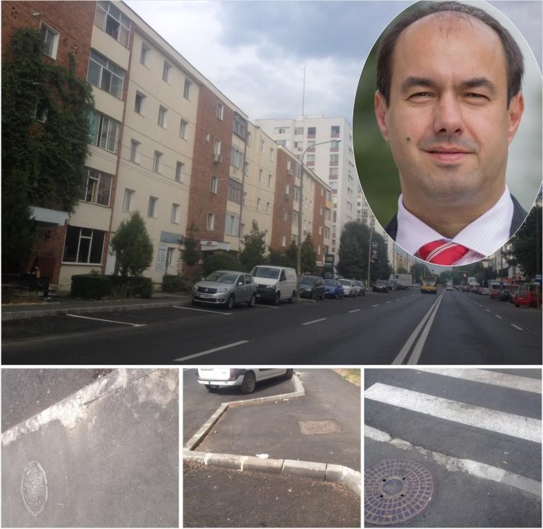 Apostoliceanu e dezamăgit de calitatea lucrărilor din   cartierul Trivale