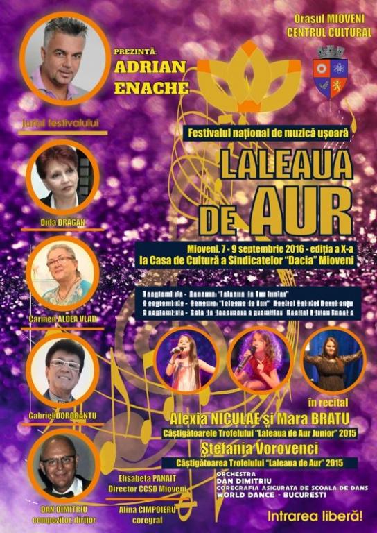 """Începe festivalul național de muzică ușoară ,,Laleaua de aur""""!"""