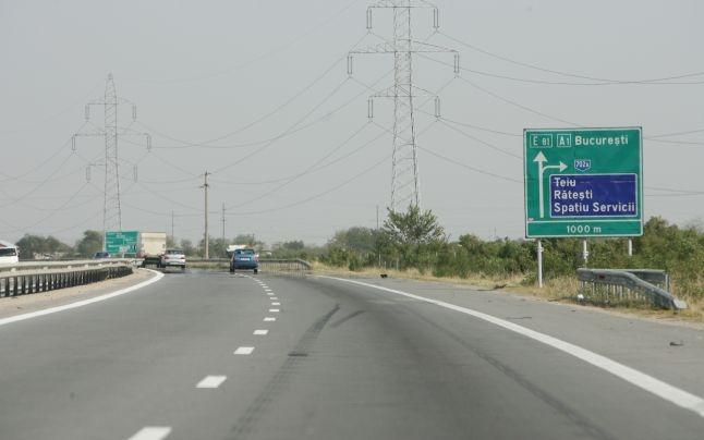 Marcaje pe autostrada Pitești-București