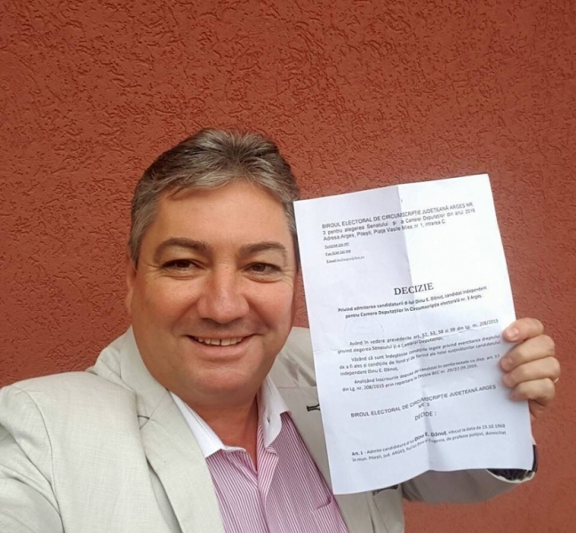 Dănuţ Dinu - primul INDEPENDENT din România validat pentru parlamentare