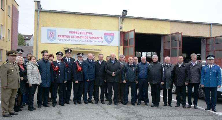 Colonelul Liviu Popescu, comandatul ISU Argeș, a ieșit la pensie