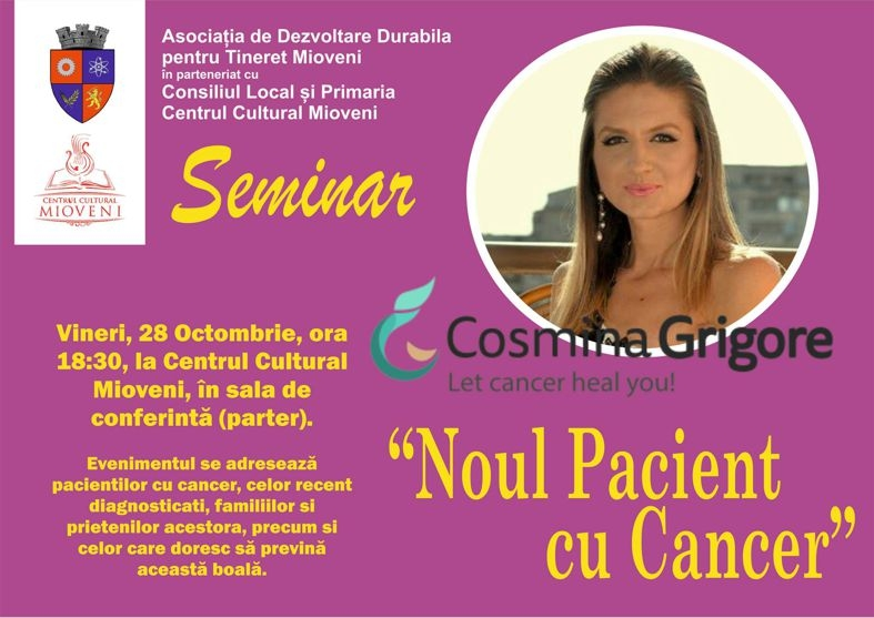 Noul Pacient cu Cancer, la Centrul Cultural Mioveni