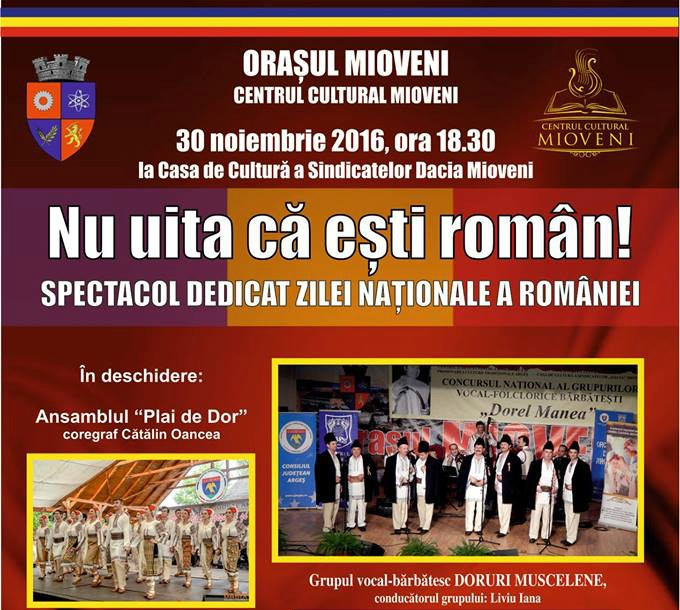 Nu uita că ești român!