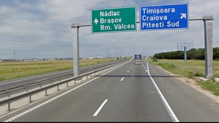 Accident pe autostrada Bucureşti-Piteşti