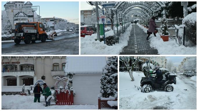 În Mioveni se circulă în condiţii de iarnă